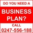 GET A BUSINESS PLAN!