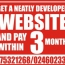 WEBSIT & PAY IN 3MONTH
