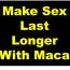 Make Sex last Longer