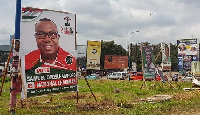 Some of the huge NDC campaign billboards in Kumasi
