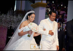 Pastor Chris walked his daughter down the aisle