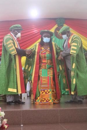 Professor Mrs. Rita Akosua Dickson is the newly-invested Vice-Chancellor