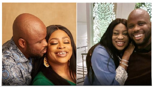 Nigerian gosple musician Sinach and husband