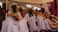 Sheikh Leetei Ibrahim Mensah (holding the staff staff)