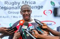 President of Ghana Rugby Football Union, Herbert Mensah