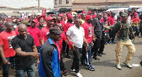 The demonstration was led by the NDC and some other concerned groups