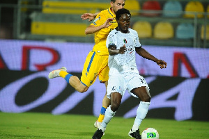 Emmanuel Gyasi in action for his club