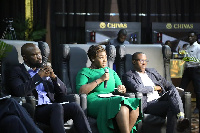 Peace Hyde (in green outfit) at the Chivas 'The Venture Final'