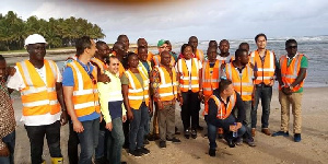 Mr. Paul Essien with others after inspection of the 20,000acres land for the project