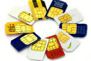 File photo of SIM cards
