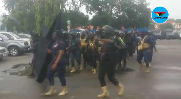 Ghana Police Service embarks on confidence building march in Accra