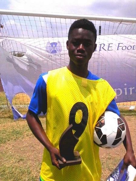 13 year old Joe Amoako - MVP of 2015 Aspire Football Dreams Ghana