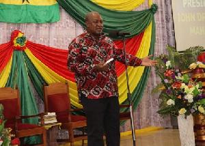 John Mahama addresses Pastors