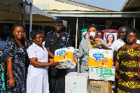 Adwoa Safo distributed items to hospitals, Police Stations, taxi and Trotro stations
