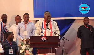 Former President John Agyekum Kufuor speaking at the conference