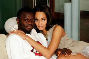 Sule Muntari with Menaye Donkor
