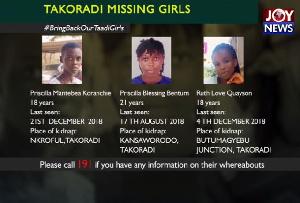 The girls were kidnapped in Takoradi