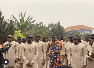 Kennedy Osei Asante with some of his grooms men