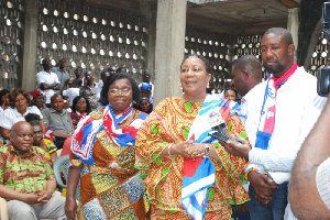 Mrs Akufo-Addo addressing the traditional leaders