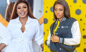 Afia Schwarzenegger has explained why she was seen dancing while Wendy Shay was performing on stage