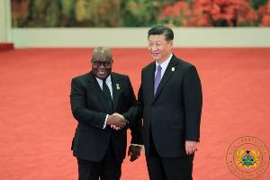 President Nana Addo Dankwa Akufo-Addo and Chinese President Xi Jinping