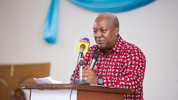 Mahama promises to complete Yeji landing beach