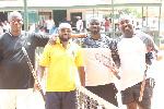 Abele and Amoo of Atomic Tennis Club and Nana Poku and Derrick of Ghana Tennis Club