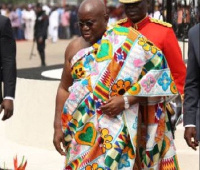 President Nana Addo Dankwa Akufo-Addo on his way to take his oath of office in 2017