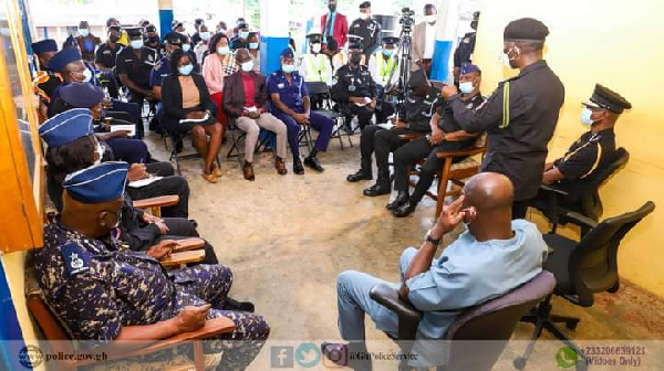 Acting IGP, Dr. George Akuffo Dampare is on a tour in the Eastern Region