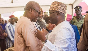 Former President John Mahama (L) and Vice-President Dr Mahamudu Bawumia (R)