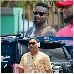 Rapper Sarkodie and  Kwadwo Safo Jnr