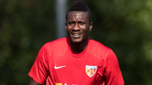 Legon Cities striker Asamoah Gyan