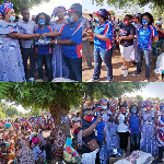 They visited several communities and organised mini-rallies