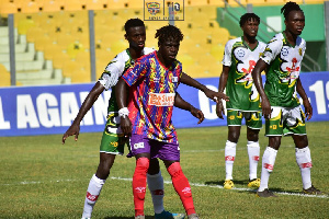 Hearts beat the guests at the Accra Sports stadium