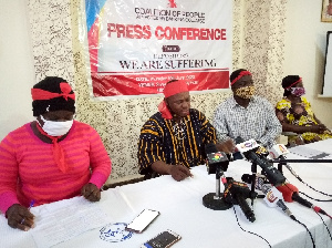 The group addressing the press on Tuesday
