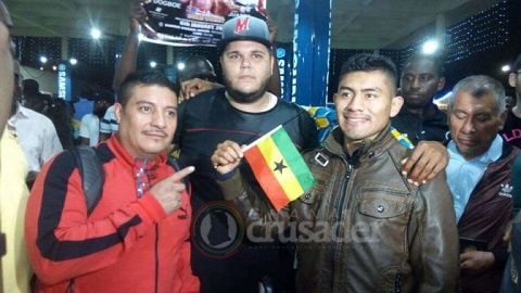 Cesar Juarez and his team arrived in Accra on Friday night