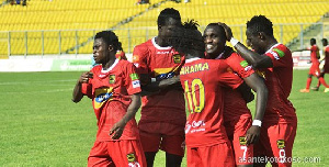 Kotoko players celebrate their victory over Ashgold