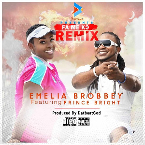 The remix is Emelia Brobbey's third song in eight months