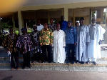 Mr Salifu Saeed poses with the Regional Co-coordinating Council members