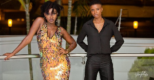 The Late Ebony Reigns and her best friend, Franky Kuri