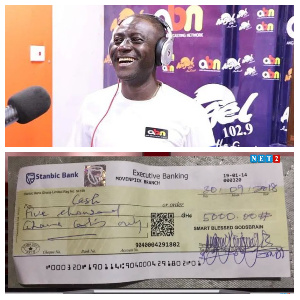 Captain Smart issued GH¢5,000 cheque to a lady he owes
