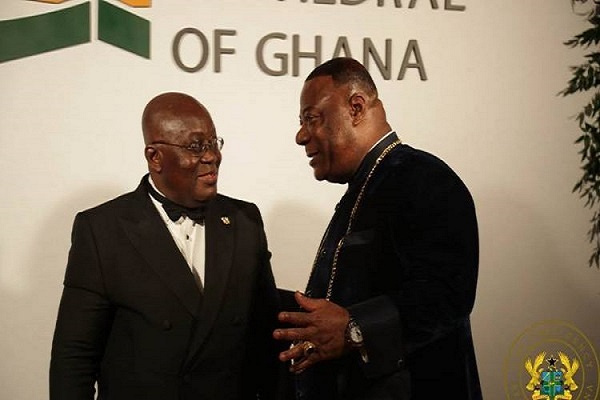 Duncan Williams (right) with President Akufo-Addo (left)