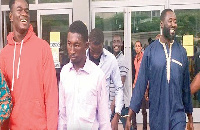 File photo: Seidu Yakubu Mba (in blue) and three others have been set free