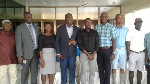 GGA prez., Aggrey (4th L)  with other officials at the launch
