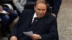 Algeria's former president Abdelaziz Bouteflika