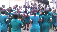 Striking nurses.    File photo.