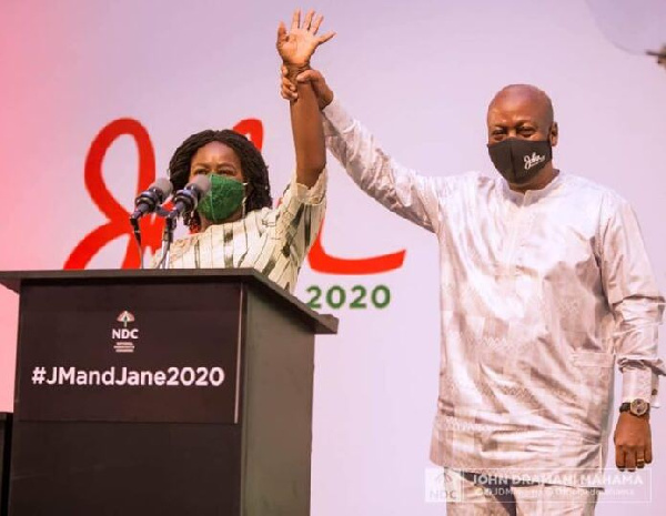 Jane and I will not be involved in politics of insults - Mahama