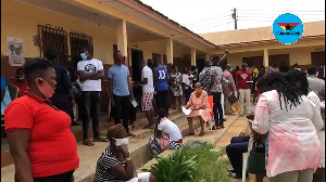 Hundreds of people rushed to the Tema Primary School to register for the new card