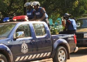 Mampong Police In Van