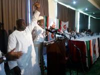 Nana Konadu Agyemang Rawlings unveils her running mate, Kojo Mensah Sosu